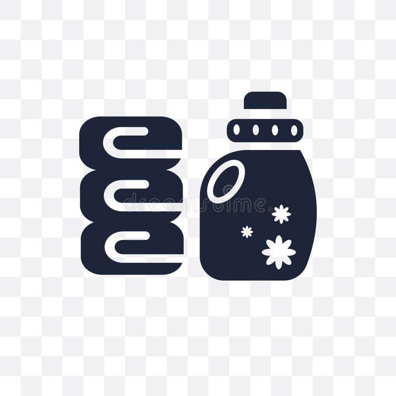 Icono transparente del suavizador Diseño del símbolo del suavizador de la limpieza ilustración del vector