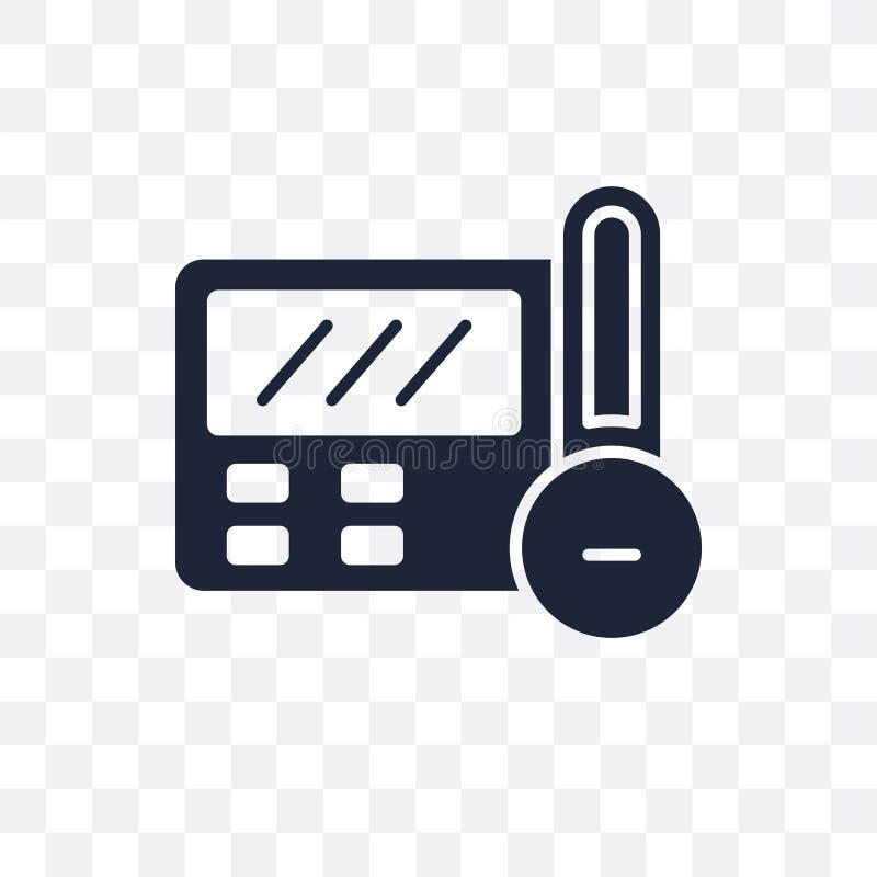 Icono transparente del termóstato Diseño del símbolo del termóstato de Smart ilustración del vector