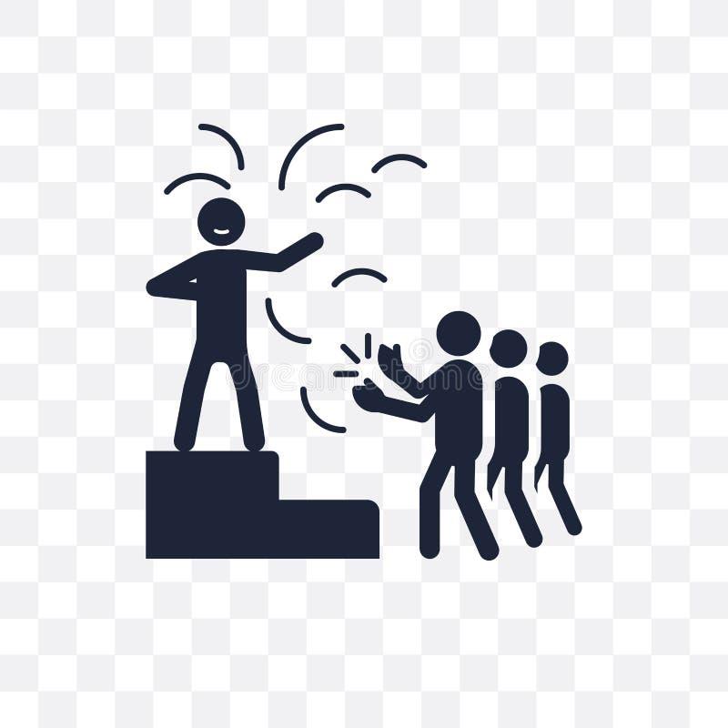 icono transparente humano bendecido diseño humano bendecido del símbolo de ilustración del vector