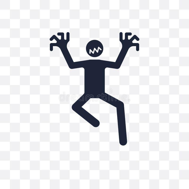 icono transparente humano esperanzado diseño humano esperanzado del símbolo de stock de ilustración