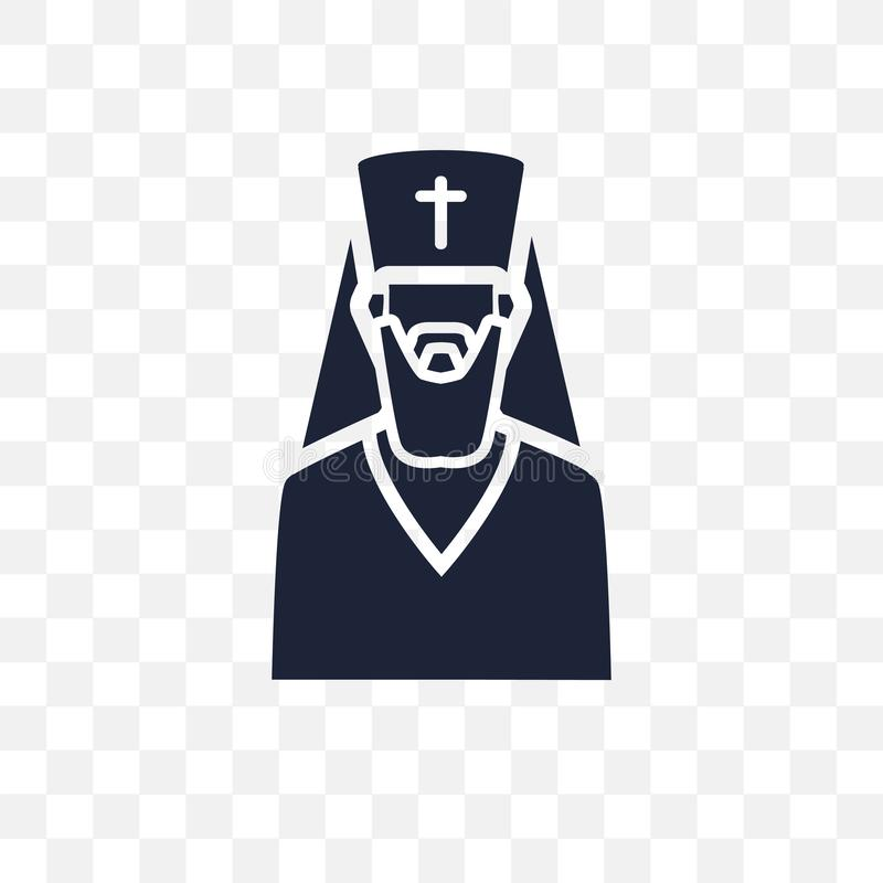 icono transparente ortodoxo diseño ortodoxo del símbolo de la religión ilustración del vector