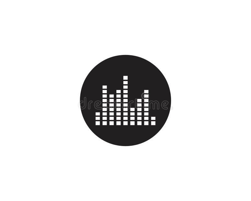 Icono trasero de la onda acústica ilustración del vector