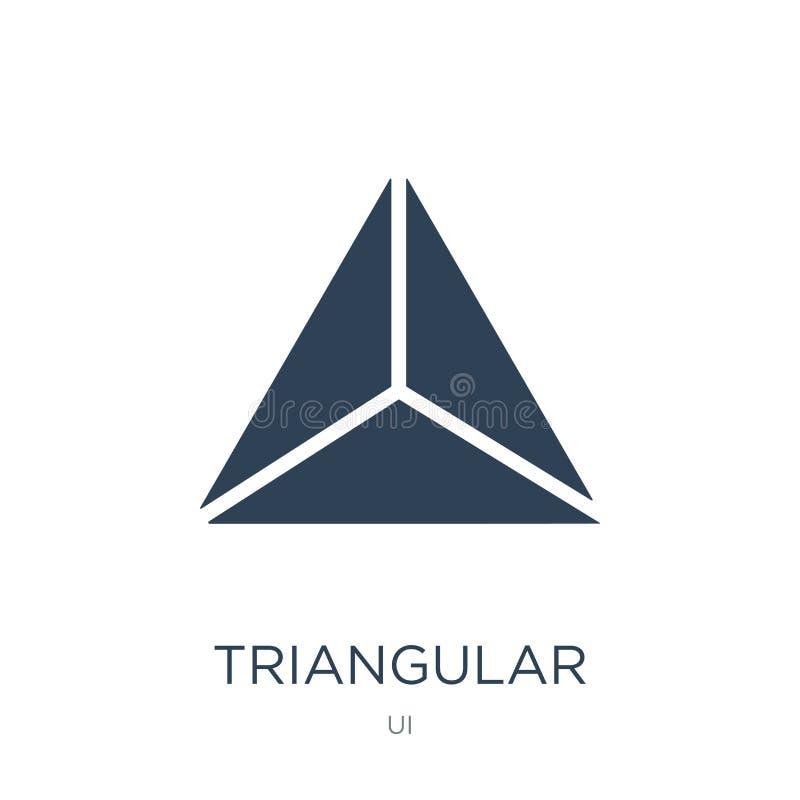 icono triangular en estilo de moda del diseño icono triangular aislado en el fondo blanco icono triangular del vector simple y mo stock de ilustración
