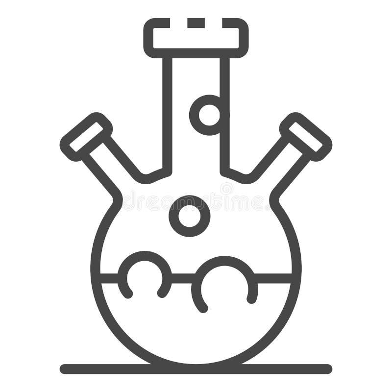 Icono triple del frasco del cuello, estilo del esquema stock de ilustración
