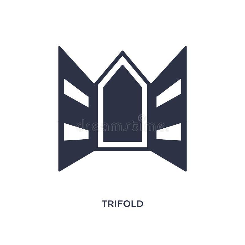 icono triple en el fondo blanco Ejemplo simple del elemento del concepto de la historia stock de ilustración