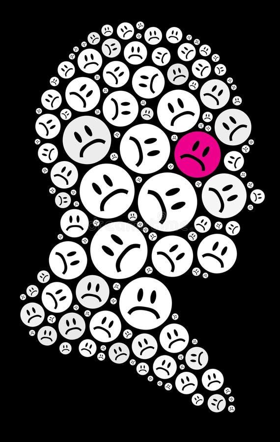 Icono triste ilustración del vector