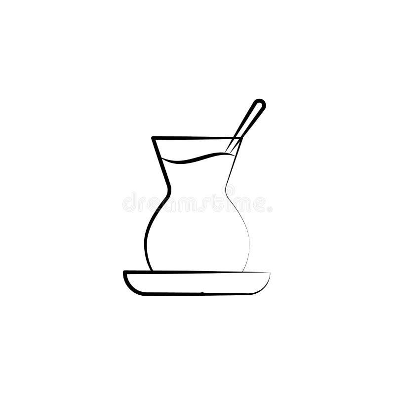 Icono turco de los vidrios del té Elemento del icono del té para los apps móviles del concepto y de la web El icono turco exhaust ilustración del vector