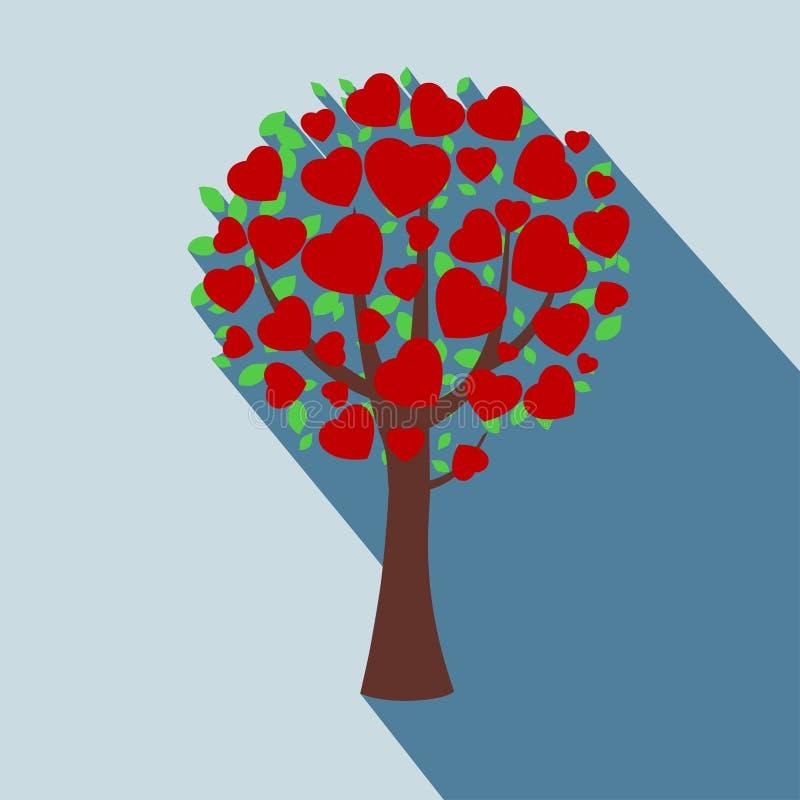 Icono un árbol en estilo plano. libre illustration