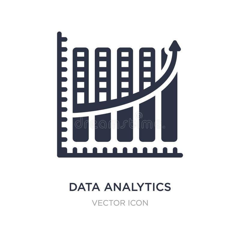 icono upgoing de la carta de barras del analytics de los datos en el fondo blanco Ejemplo simple del elemento del concepto del ne ilustración del vector