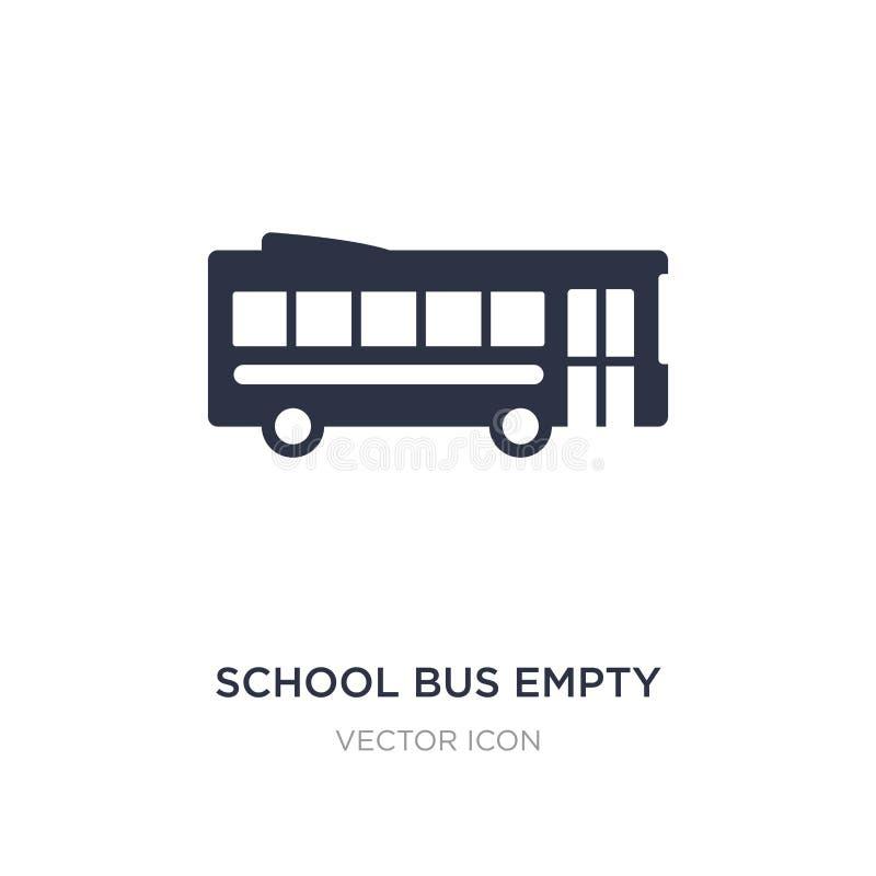 icono vacío del autobús escolar en el fondo blanco Ejemplo simple del elemento del concepto del transporte ilustración del vector