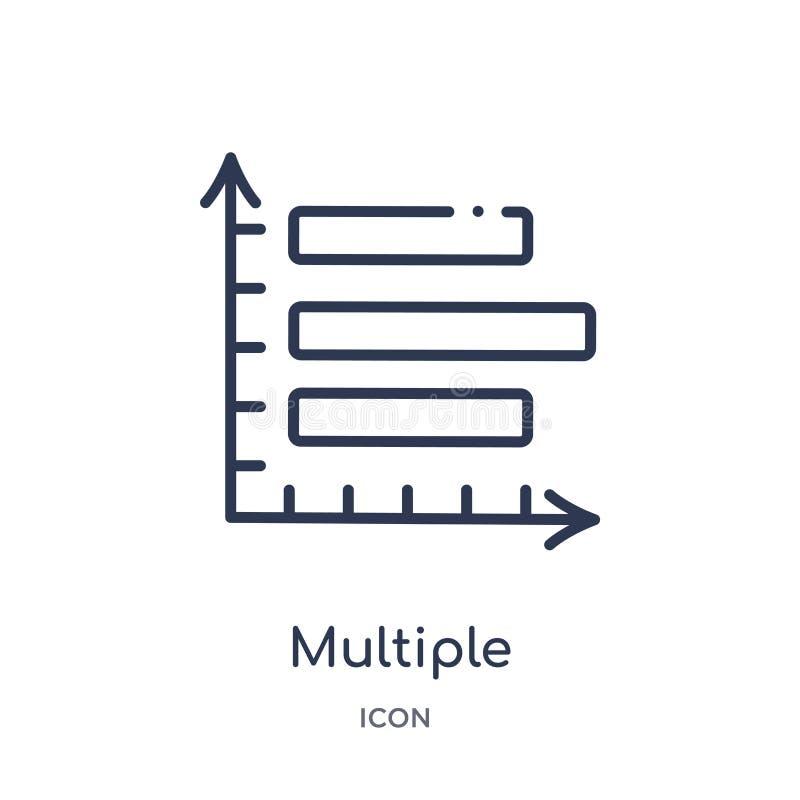 icono variable múltiple de las barras verticales de la colección del esquema de la interfaz de usuario Línea fina icono variable  stock de ilustración