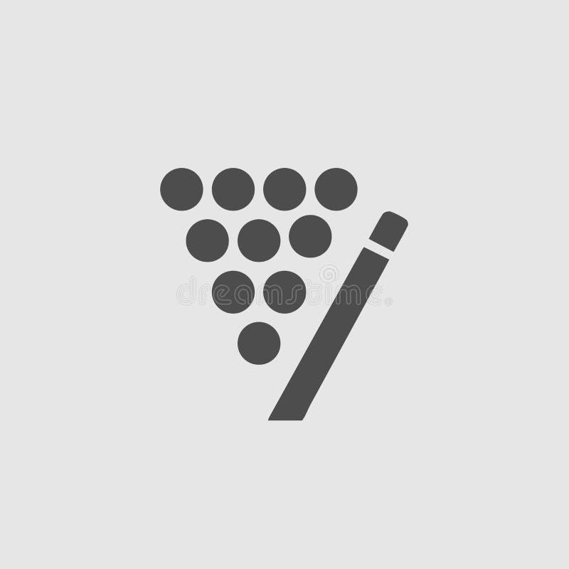 Icono vectorial de grupo Billiard ilustración del vector