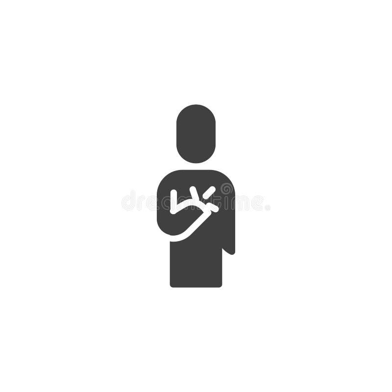 Icono vectorial del dolor de corazón humano libre illustration