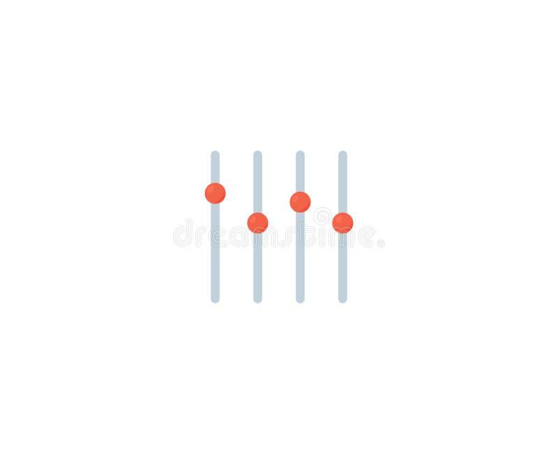 Icono vectorial del mezclador de sonido Audio de equilibrio de mezclador de control de consola de canal de sonido deslizante ilustración del vector