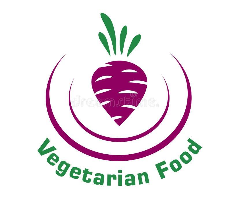 Icono vegetariano de la comida con remolachas stock de ilustración