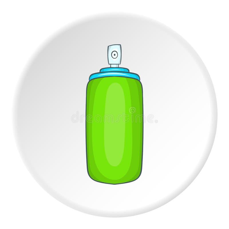 Icono verde de la botella del aerosol del ambientador de aire ilustración del vector
