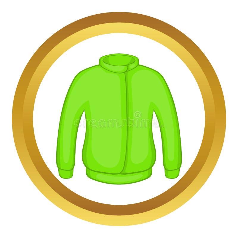 Icono verde de la chaqueta de Paintball stock de ilustración
