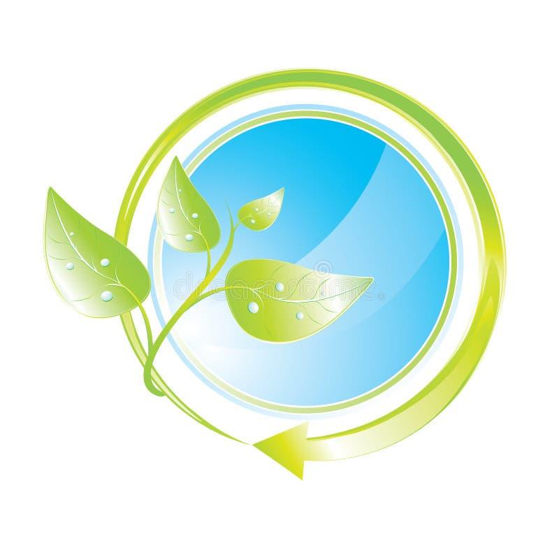 Icono verde del concepto ilustración del vector