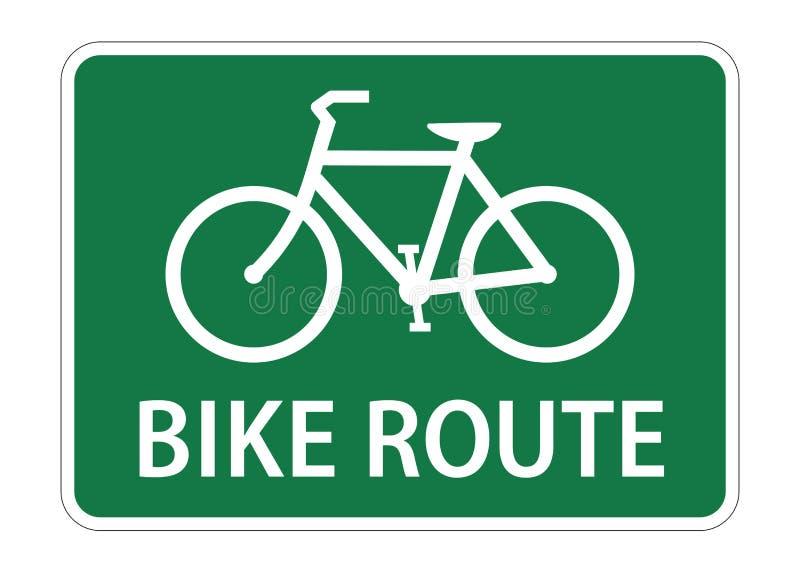 Icono verde del vector de la muestra de la ruta de la bici libre illustration