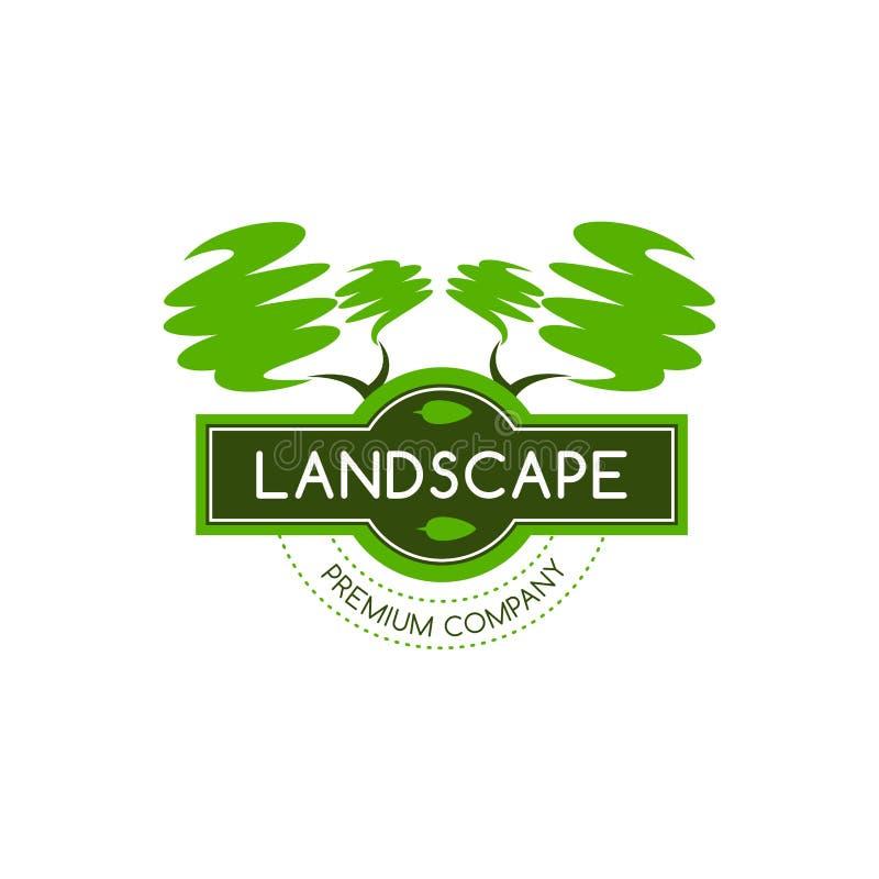 Icono verde del vector de los árboles para el diseño del paisaje libre illustration