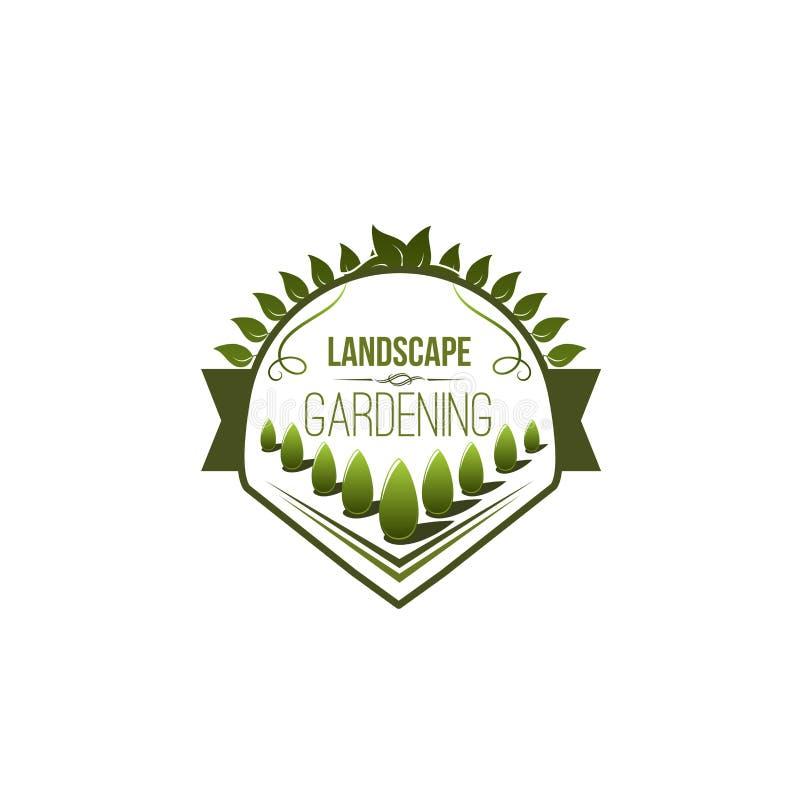 Icono verde del vector del plantación de árboles para ajardinar libre illustration