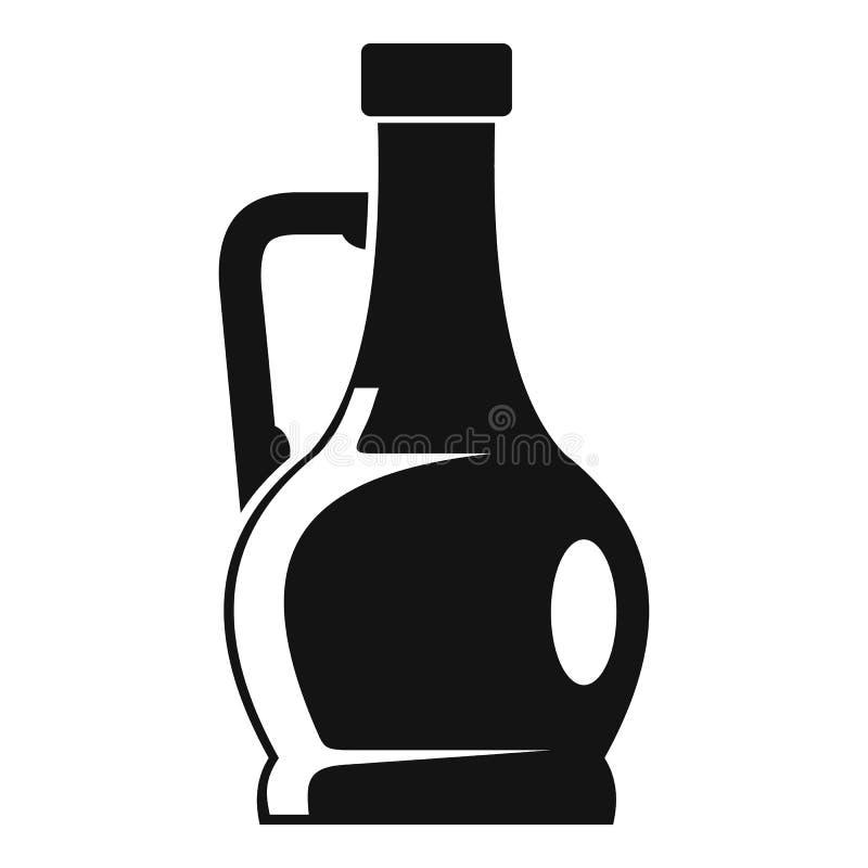 Icono verde oliva de la botella, estilo simple ilustración del vector