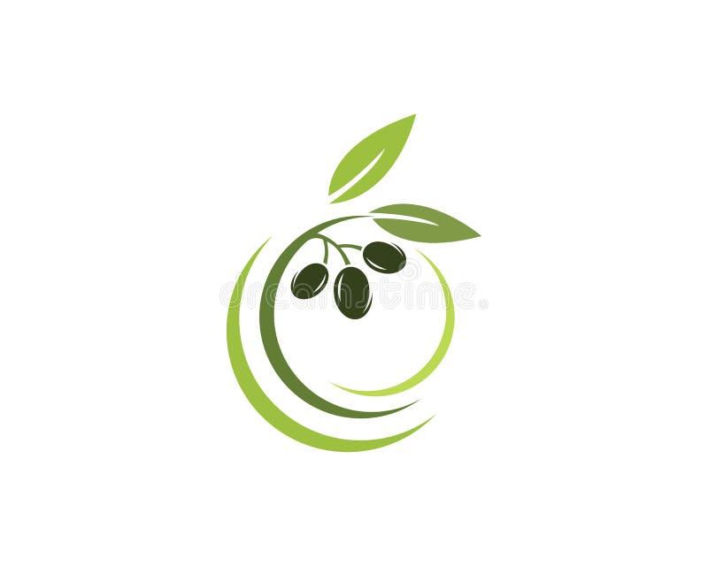 Icono verde oliva del vector de la plantilla del logotipo libre illustration