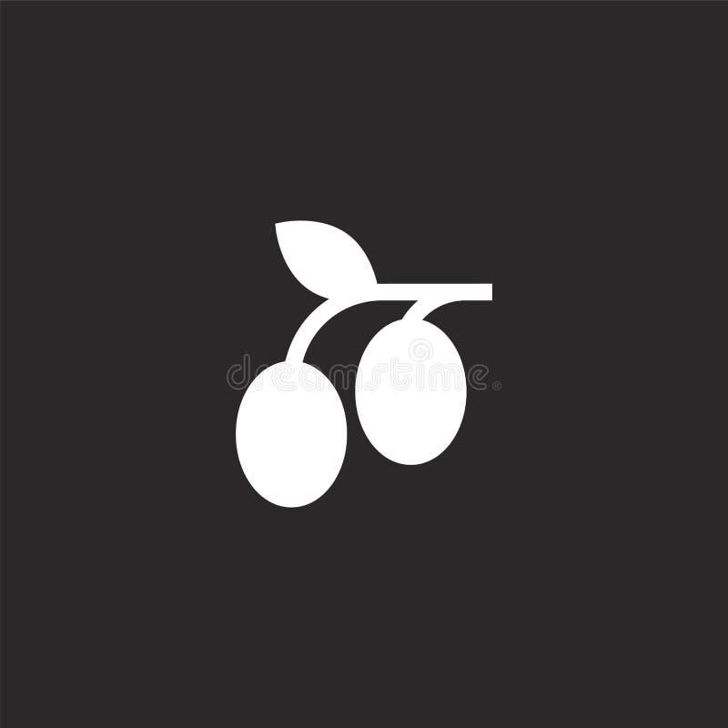 Icono verde oliva Icono verde oliva llenado para el diseño y el móvil, desarrollo de la página web del app icono verde oliva de l stock de ilustración