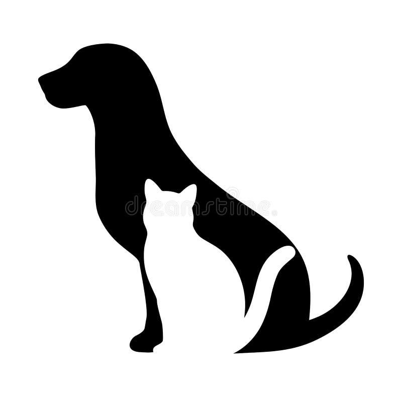 Icono veterinario del ejemplo del perro y del gato Agrupado para corregir f?cil libre illustration