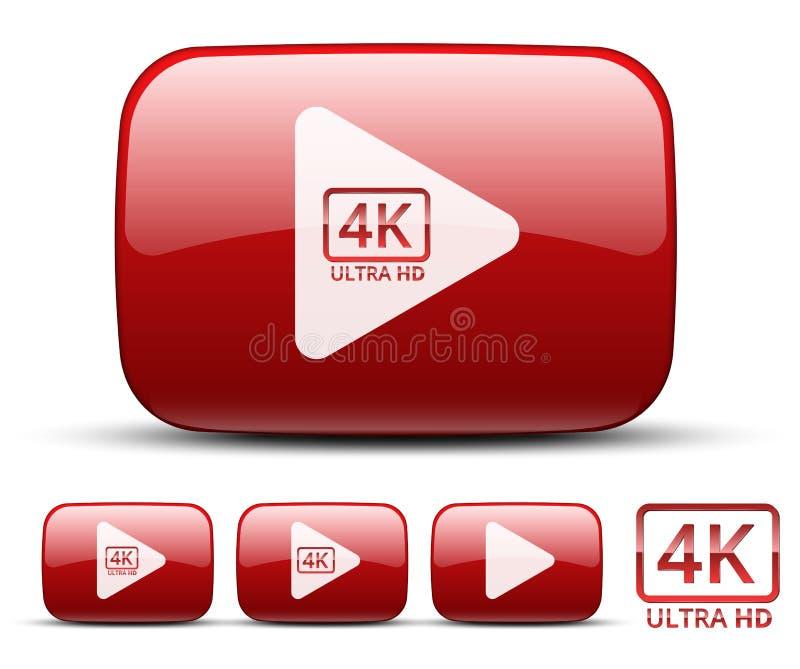 Icono video ilustración del vector