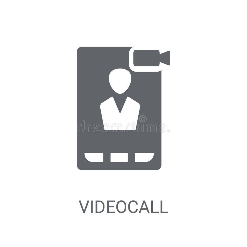Icono video de la llamada Concepto video de moda del logotipo de la llamada en el backgroun blanco libre illustration