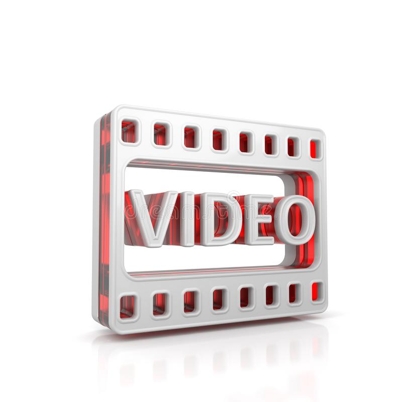 Icono video del web libre illustration