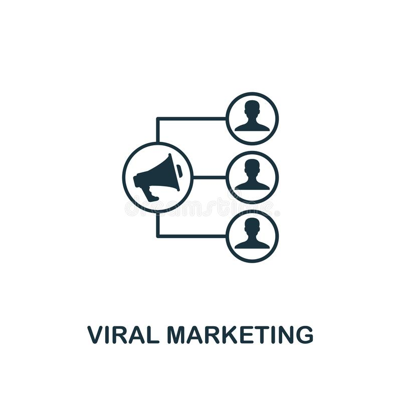 icono viral del márketing Diseño creativo del elemento de la colección contenta de los iconos Icono de comercialización viral per stock de ilustración