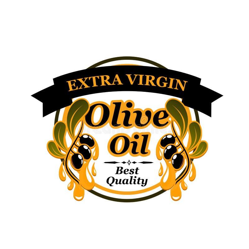 Icono virginal adicional del aceite de oliva ilustración del vector