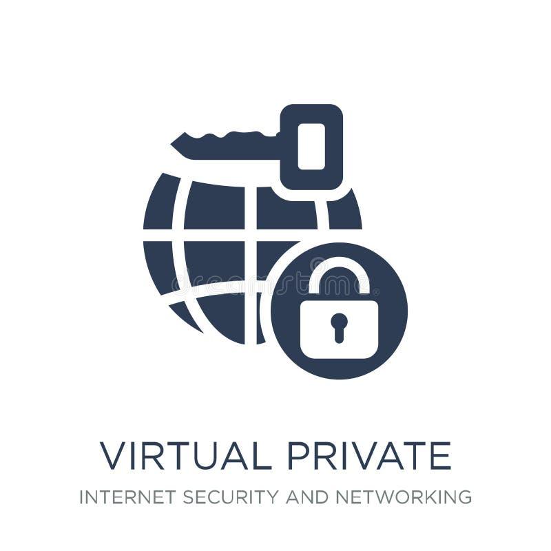 Icono virtual de la red privada Soldado virtual del vector plano de moda ilustración del vector