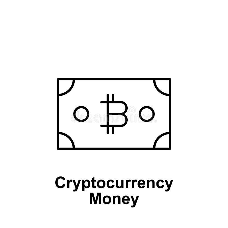 Icono virtual del esquema del dinero de Bitcoin Elemento de los iconos del ejemplo del bitcoin r libre illustration