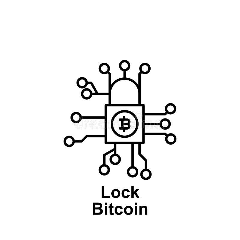 Icono virtual del esquema del teléfono móvil de Bitcoin Elemento de los iconos del ejemplo del bitcoin Las muestras y los símbolo libre illustration