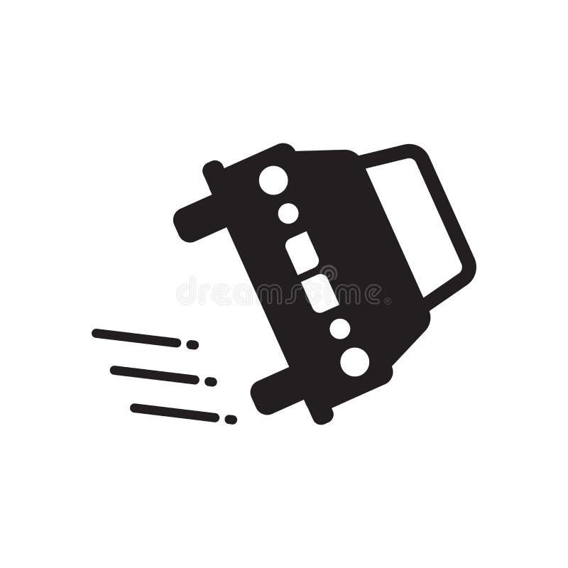Icono volcado del vehículo Concepto volcado de moda del logotipo del vehículo libre illustration