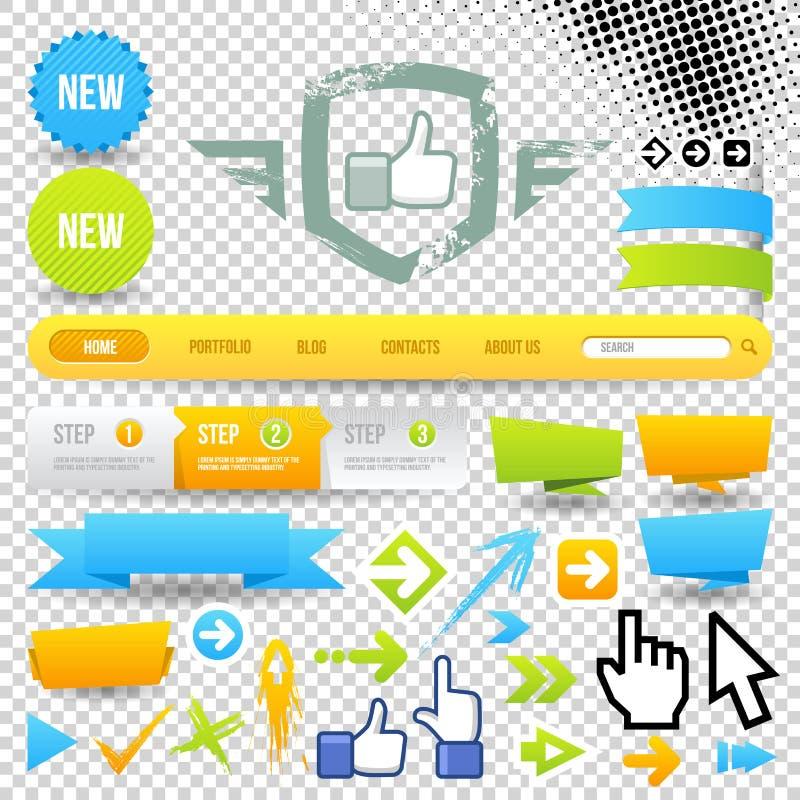 Icono y flechas del modelo del Web ilustración del vector