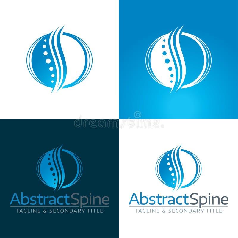 Icono y logotipo abstractos de la espina dorsal libre illustration