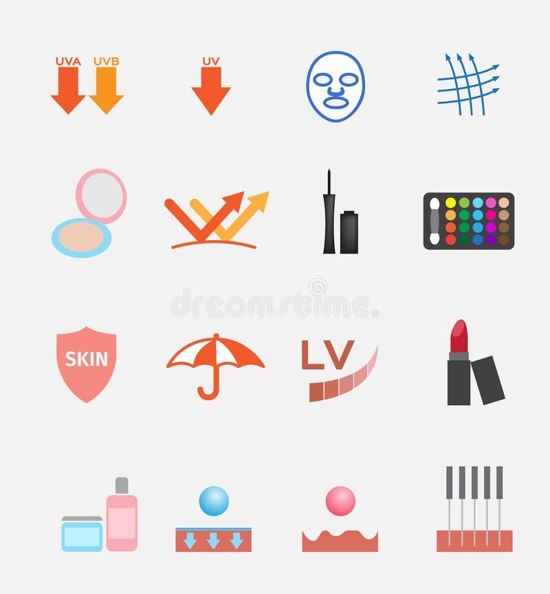 Icono y logotipo cosméticos ilustración del vector