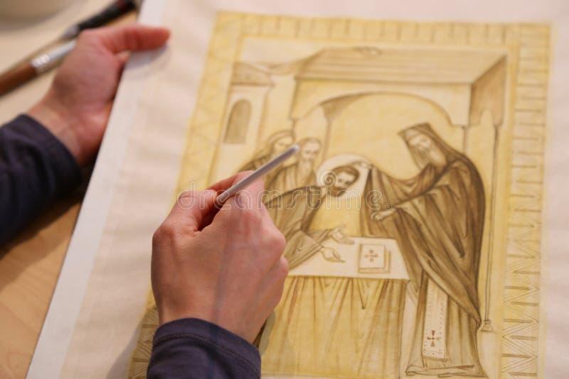 Iconographer royalty-vrije stock afbeeldingen