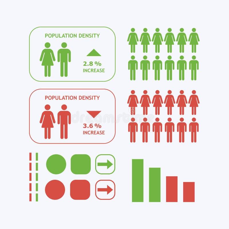 Iconographic symboler för manlig och kvinnlig kontur stock illustrationer