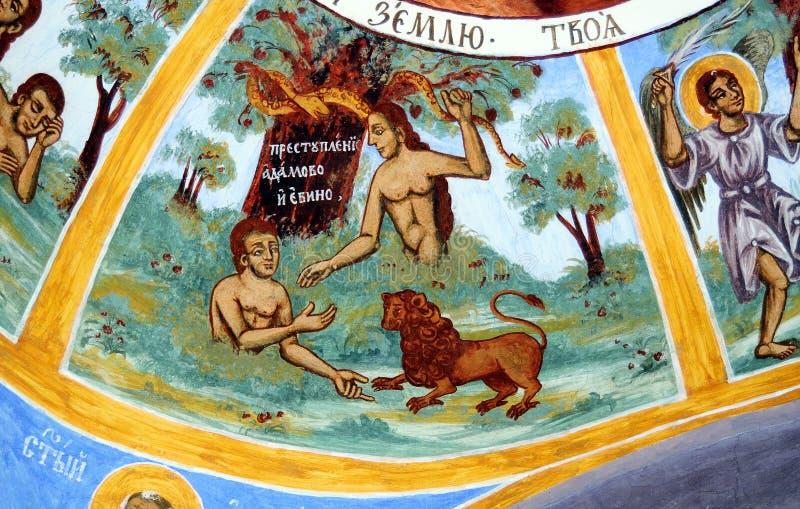 Iconograrhy fresko stock foto's