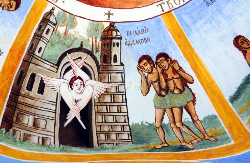 Iconograrhy fresko royalty-vrije stock foto