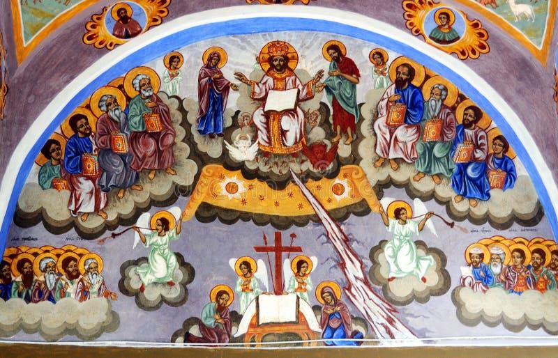 Iconograrhy fresko royalty-vrije stock afbeeldingen