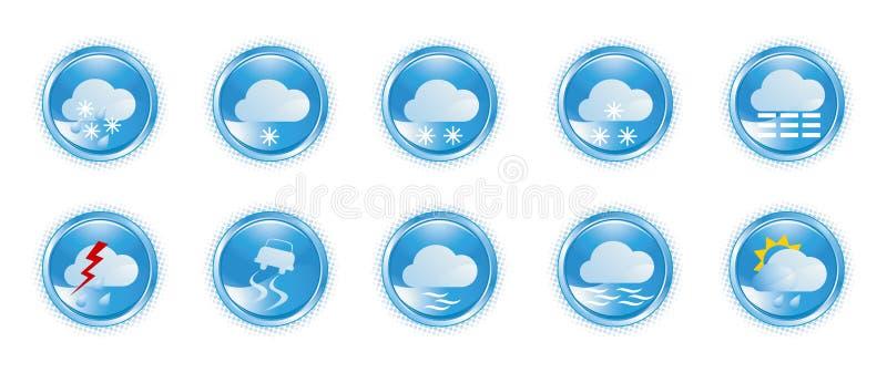 Iconos 01 del tiempo ilustración del vector