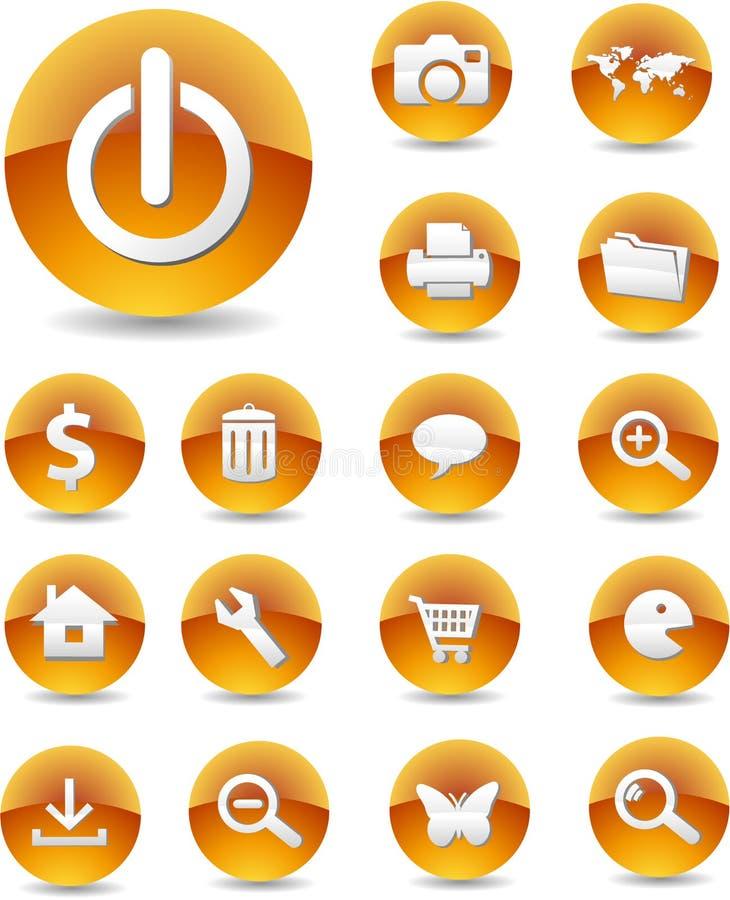 Iconos 01 del Web ilustración del vector