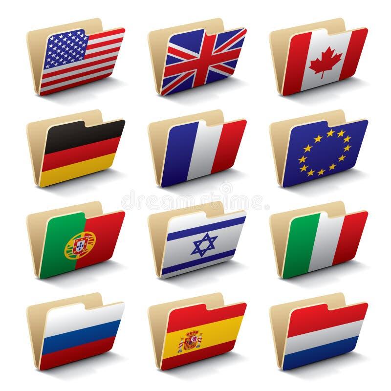 Iconos 1 de las carpetas del mundo libre illustration