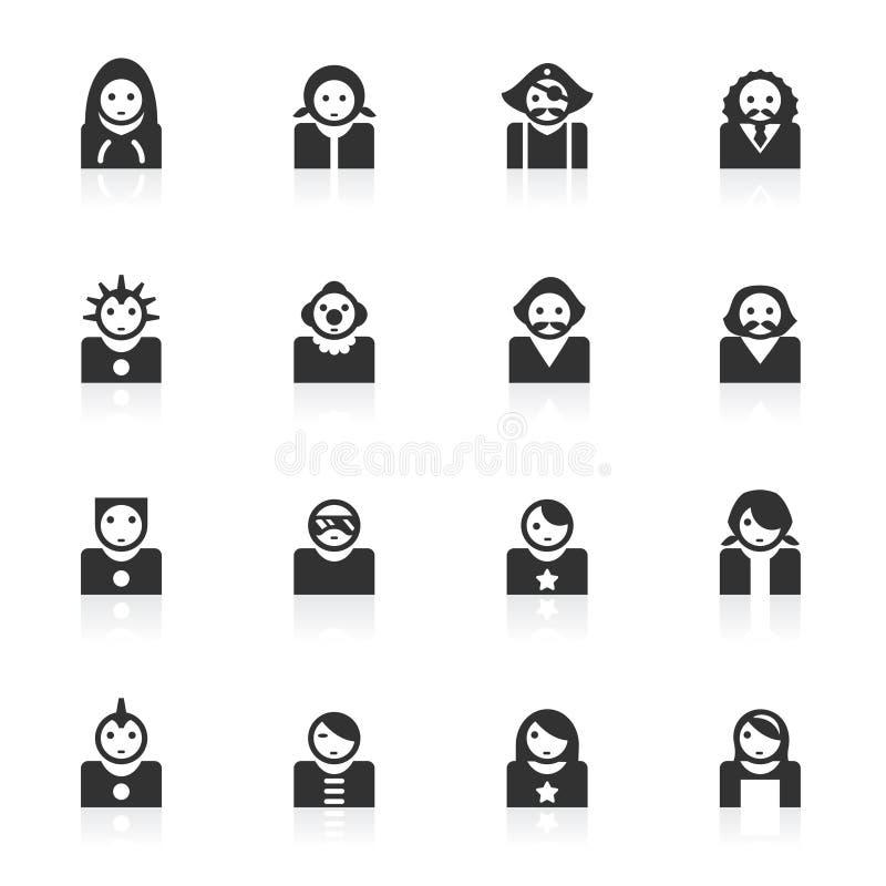 Iconos 2 del avatar - serie del minimo stock de ilustración